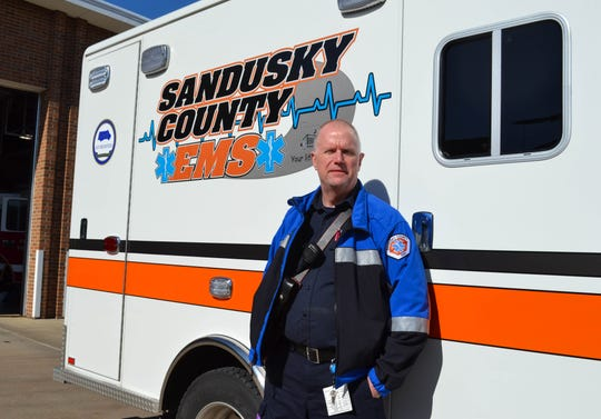Chris Shay will retire on April 28 after 27 years with Sandusky County EMS. Shay said his faith helped sustain him through the difficult days that are part of a paramedic's life.