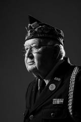 A photographic portrait of Jerry Simonar in his Army uniform in November 2019 from the Veterans Portrait Project.