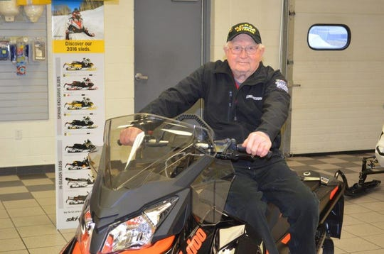 """Jerry Simonar, shown at Simonar Sports in Luxemburg, was called the """"Mayor of South Luxemburg"""" for his knowledge, business sense and opinions. Simonar died April 13 at age 87, the first person in Kewaunee County to die of complications from COVID-19."""
