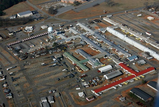 A file aerial photo of the Anderson Jockey Lot in Williamston.