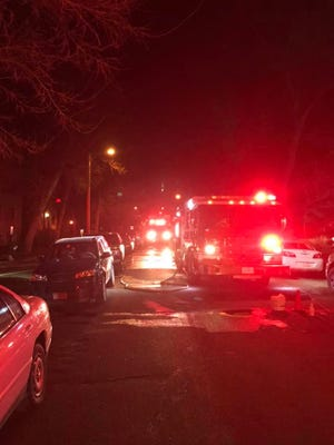 Crews from Great Falls Fire Rescue respond to an apartment fire in Great Falls early Wednesday morning.