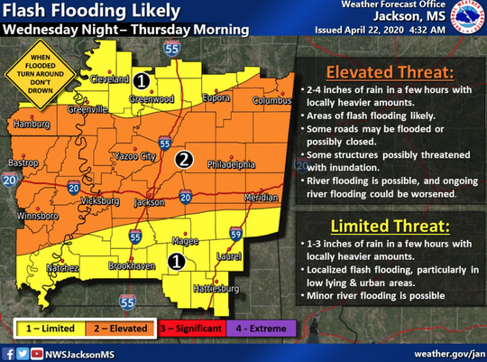 Flash flooding is possible tonight and Thursday morning.
