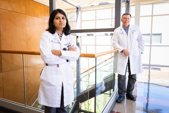 Dr. Bhagyashri Navalkele and Dr. Jason Parham lead the University of Mississippi Medical Center's infectious diseases and infection prevention operations.