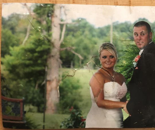 A wedding picture that was picked up by an Easter Sunday tornado traveled more than 135 miles before it was found. It is now being returned to the family.
