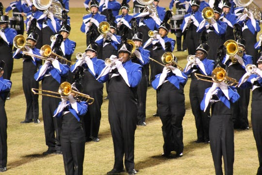 Former Mississippi State offensive lineman Tyre Phillips played trumpet in the Grenada High School marching band.