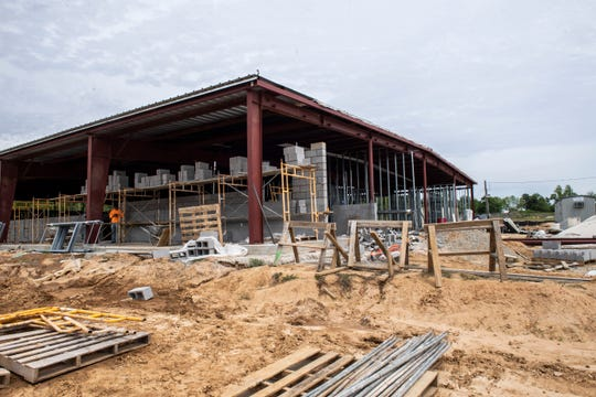 Construction on the new building of the animal shelter in Jackson, Tenn., Wednesday April, 22, 2020.
