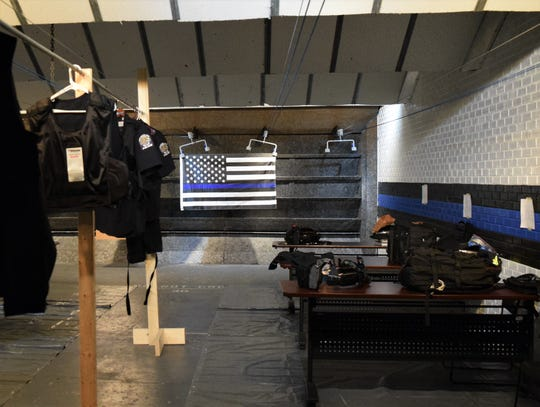 In an effort to provide more space between officers and to mitigate exposure, the Lancaster Police Department has turned its shooting range into the second shift's locker room, allowing for easier cleaning. The department is facing 20% layoffs due to the city's loss of income tax revenue.