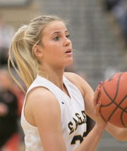 Whitney Sollom scored 1,029 points and grabbed 824 rebounds during her four seasons at Hartland.