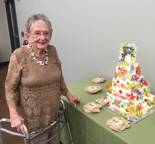 Milburn Bauer at her 95th birthday party.