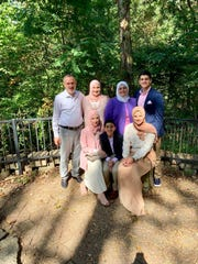 Mahmoud Kutmah (top, right) with his parents and siblings. The Louisville family would normally be attending mosque at the Muslim Community Center on Old Westport Road. This year, they will celebrate Ramadan at home.