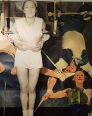 Emily Underberg (circa 1937) in Billy Schultz Circus Exhibit at the Manitowoc County Historical Society.