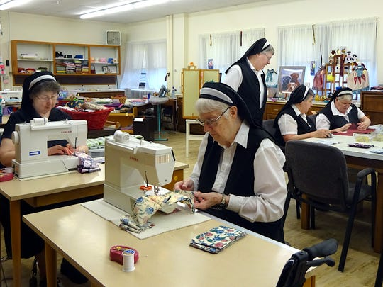Fransican Sisters sew masks