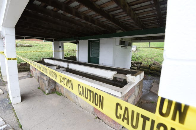 The Ohio Department of Natural Resource has informed the Ohio EPA that they have prohibited access to the spring source east of Malabar Inn Restaurant.