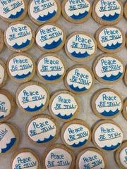 Sea Salt & Cinnamon made 1,300 cookies featuring Hannah Clark's designs for the staff at Ball Memorial Hospital.