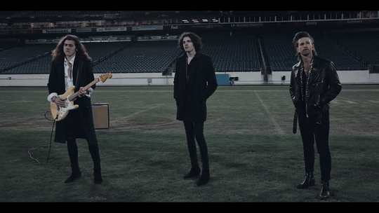 """In January, Nashville rock group the Western Sons shot their music video for """"Sleeping Alone"""" at an empty Nissan Stadium."""