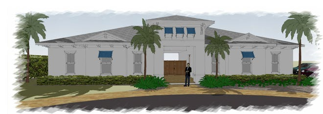 An artist's conception of the clubhouse now under construction at Sapphire Cove, a new residential community being developed by an affiliate of FL Star.