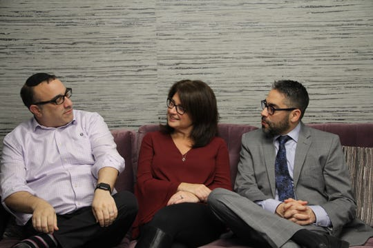 """Mark Schwartz, Karen Orgen and Michael Pagan are running together as the """"Moving Teaneck Forward"""" slate."""