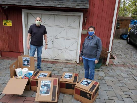Shawn Pandolfi and Joanne Piccininni, creators of Help Frontline Heroes. (Photo courtesy Shawn Pandolfi)