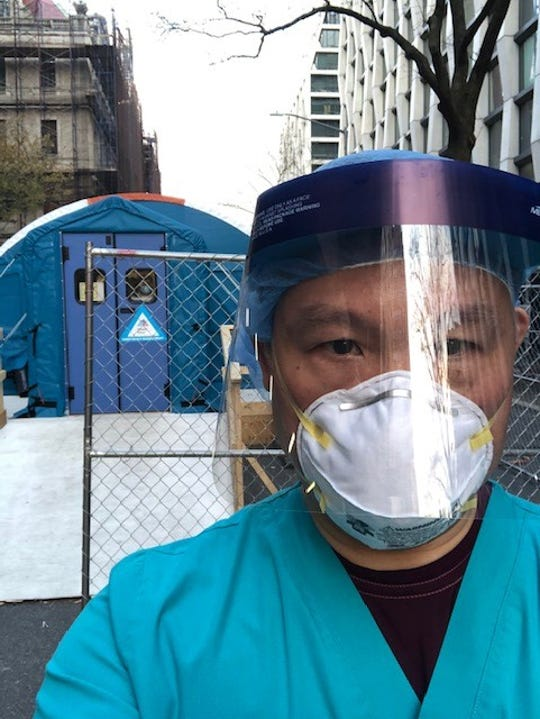 """Dumont resident William Day, a registered nurse in the Emergency Department at Mount Sinai Morningside Hospital in Manhattan, is featured on a Facebook page celebrating local residents who are """"heroes"""" for their work during the coronavirus pandemic."""