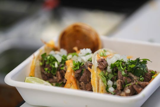 Tacos are prepared at  Taqueria Chavez on Wednesday, April 22, 2020, in Las Cruces.