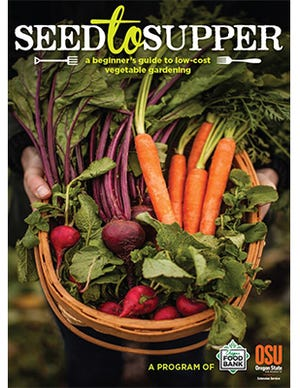 "Seed to Supper participants will receive this ""Beginners guide to low-cost vegetable gardening"" when they register for either the online or offline course offered by New Mexico State University's Ideas for Cooking & Nutrition Program. Seed to Supper participants will receive vegetable seeds for planting a garden."