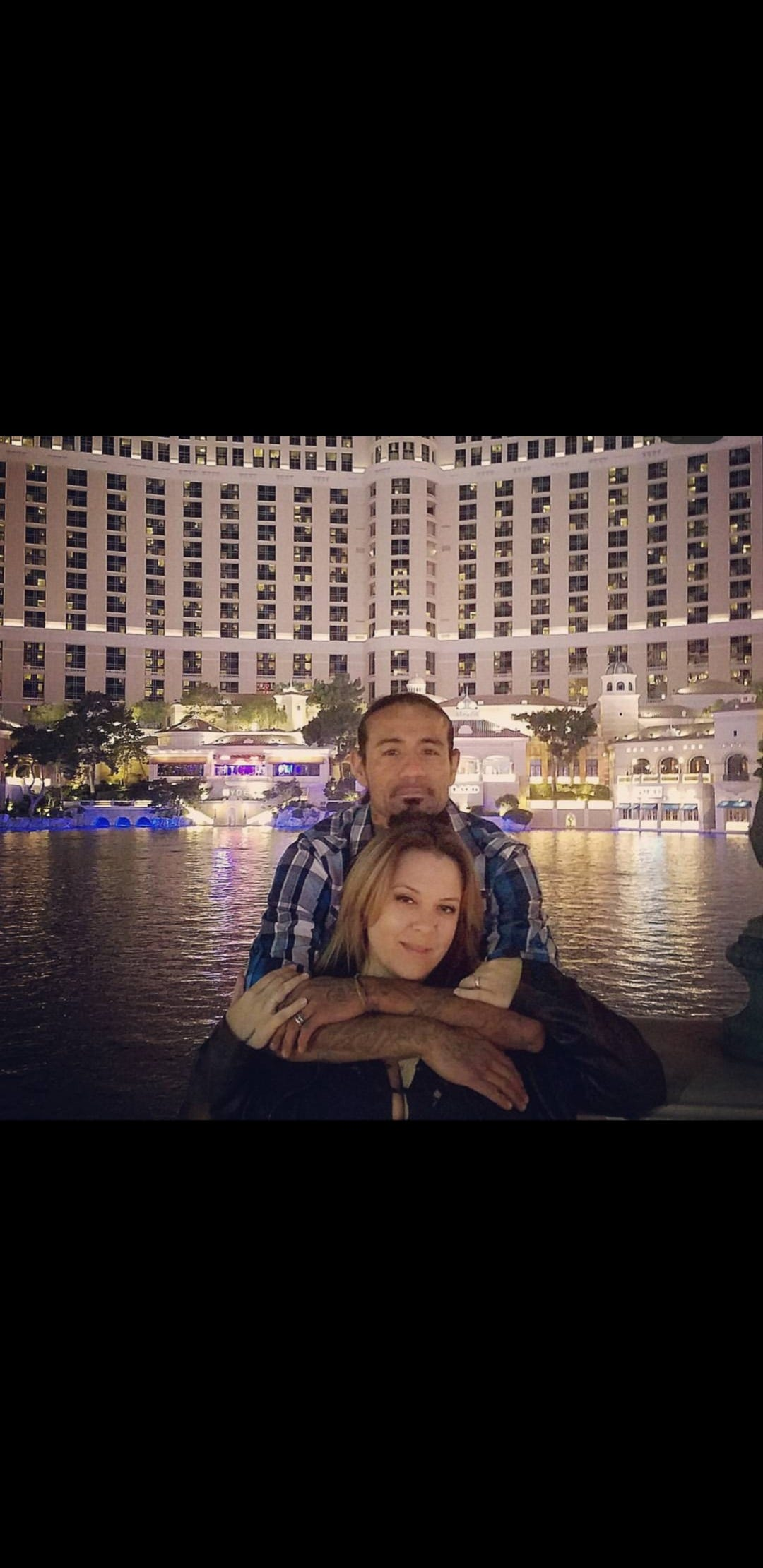 Joe and Sheena Meza the day before their wedding in Las Vegas, 2017.