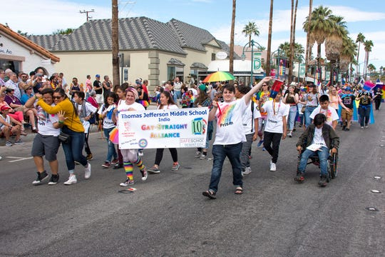 Safe Schools Desert Cities organizes the largest youth contingent in the country to walk in the Greater Palm Springs Pride Parade.