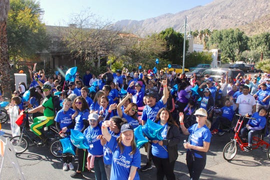 After-school kids from UCPIE enjoy an exciting day at Tour de Palm Springs.