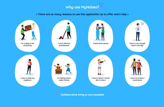 MyNabes allows neighbors to ask for everything from help to advice to companionship.