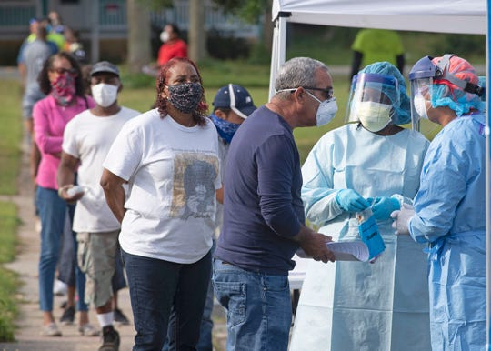 Community Health Northwest Florida has started testing for COVID-19 at a walk-up site in Attucks Court on Wednesday, April 22, 2020. The testing site is open to the entire community.