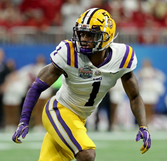 LSU Tigers defensive back Kristian Fulton (1) could be the shutdown corner several NFL teams need.