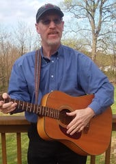 Rob Lane, a York County singer/songwriter with his guitar.