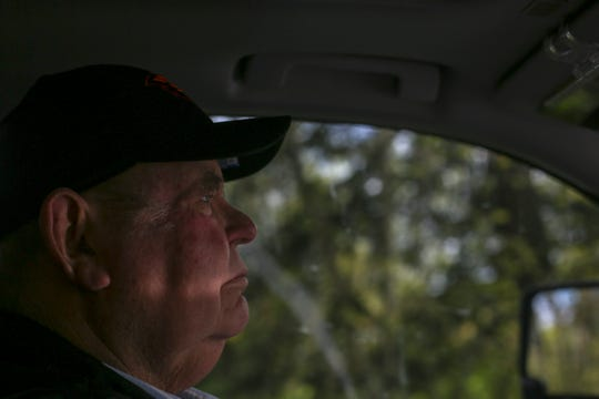 Farmer Bill Case built a 1,000-foot rock wall on dry land on his property in 2009 to protect his land from North Santiam River flooding, in Albany on April 21, 2020.