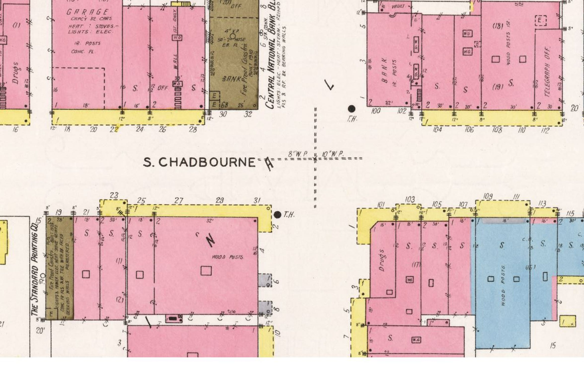 Five years after buying the San Angelo Standard, Houston Harte moved the operation up Chadbourne Street to upgrade day-to-day operations with a more modern facility. The new location, seen in the northwest quadrant of this 1927 Sanborn Fire Map, was home to the newspaper until the new building at 34 W. Harris Ave. was ready for business in 1951. The building was recently listed on the market by the current owners, Gannett Inc., to help the company keep up with current industry conditions.