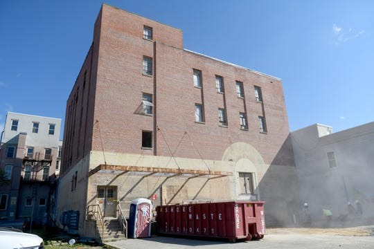 The Powell Building continues its renovations in downtown Salisbury, Maryland, on April 22, 2020. The building was an historic icon for the downtown after opening as a Montgomery Ward in 1938 — but as retail moved out of the space over time, a new future of 20 apartments lies in store.