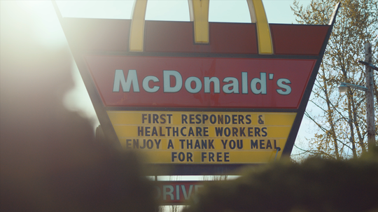 "McDonald's will offer free ""Thank You Meals"" to first responders and healthcare workers."