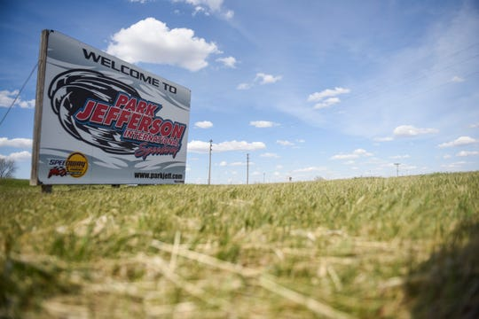 Park Jefferson prepares for their Saturday race on Wednesday, April 22, 2020 on in North Sioux City, S.D. The track will practice social distancing while allowing 700 people to attend.