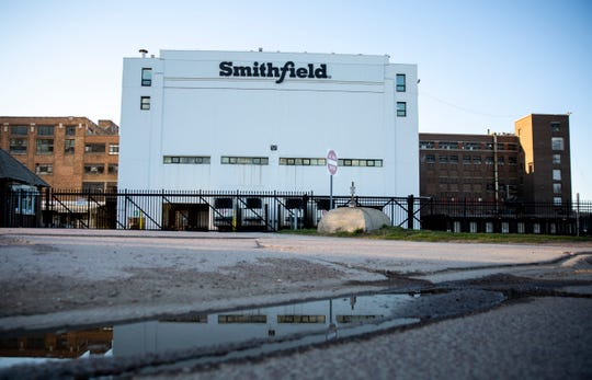 Smithfield is seen on Tuesday, April 21, 2020 on in Sioux Falls, S.D. The meatpacking plant is one of the nation's largest hot spots for COVID-19.