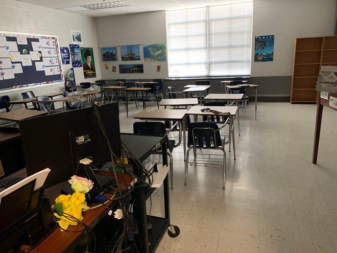 Laura Stump's French classroom at Stuarts Draft High School in Stuarts Draft.