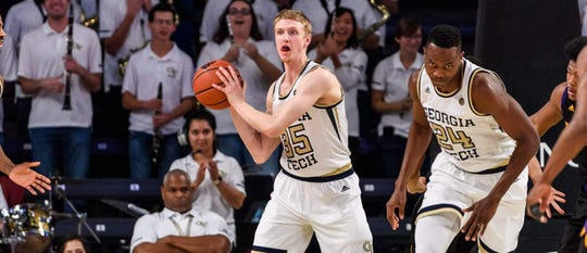 Kristian Sjolund, a 6-foot-8 transfer from Georgia Tech, is set to add to UTEP's frontcourt depth