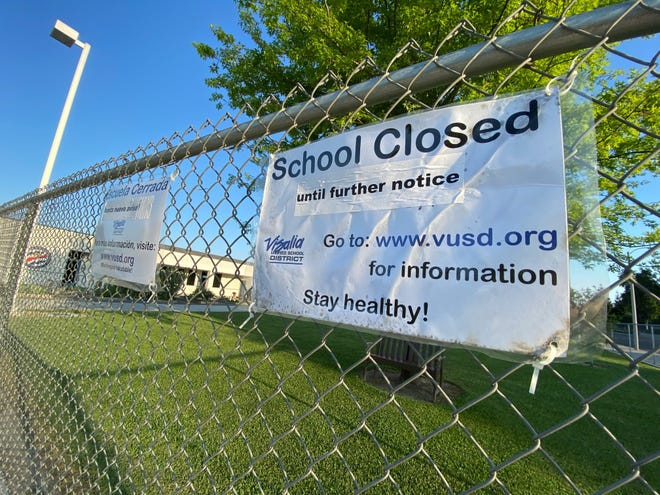 Visalia Unified schools and playgrounds are closed until further notice.