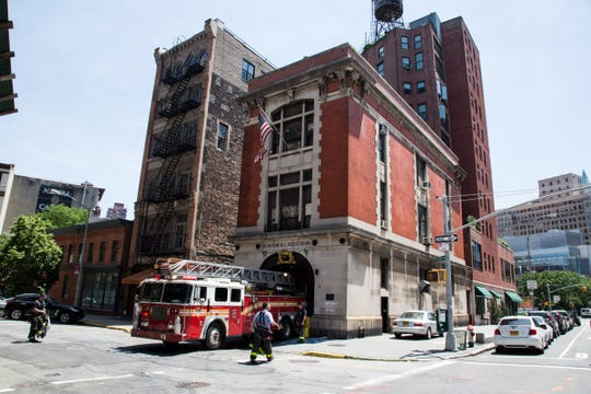"The iconic firehouse featured in ""Ghostbusters."""