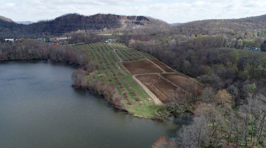 Dr. Davies Farm in Congers, by Lake Deforest April 22, 2020.