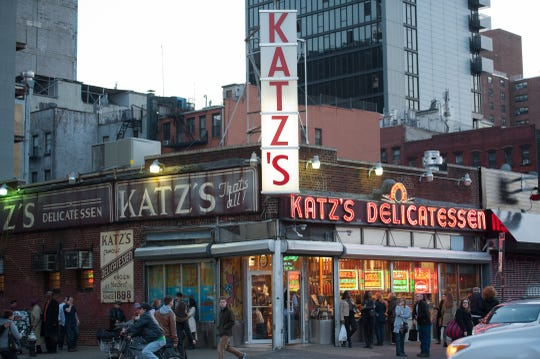 """When Harry Met Sally"" fans visiting New York City head to Katz's Delicatessen on the Lower East Side."