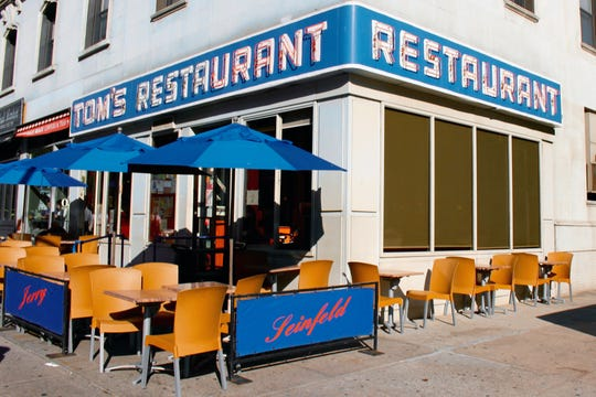 "The iconic ""Monk's Diner"" (Morningside Heights' Tom's Restaurant) used in the sitcom ""Seinfeld."""