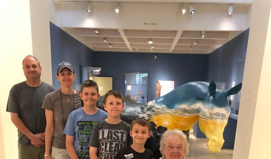 The Byrons family on a trip to the Fenimore Art Museum in Cooperstown last summer. Lisa Byron, her brother, mother and kids are pictured.
