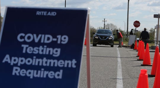 Rite Aid became the first pharmacy chain in Delaware to offer drive-thru coronavirus testing on Wednesday.
