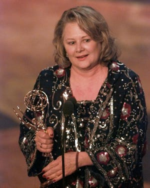Shirley Knight accepts the Emmy for Supporting Actress in a Miniseries or Special at the 47th Annual Emmy Awards at Pasadena Civic Auditorium Sept. 10, 1995.