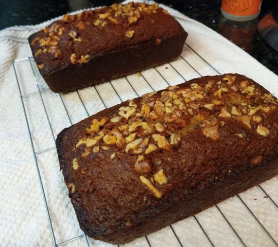 Carrie Cardona, of Fremont, California, is baking breads that don't require yeast like banana and chocolate chip bread.