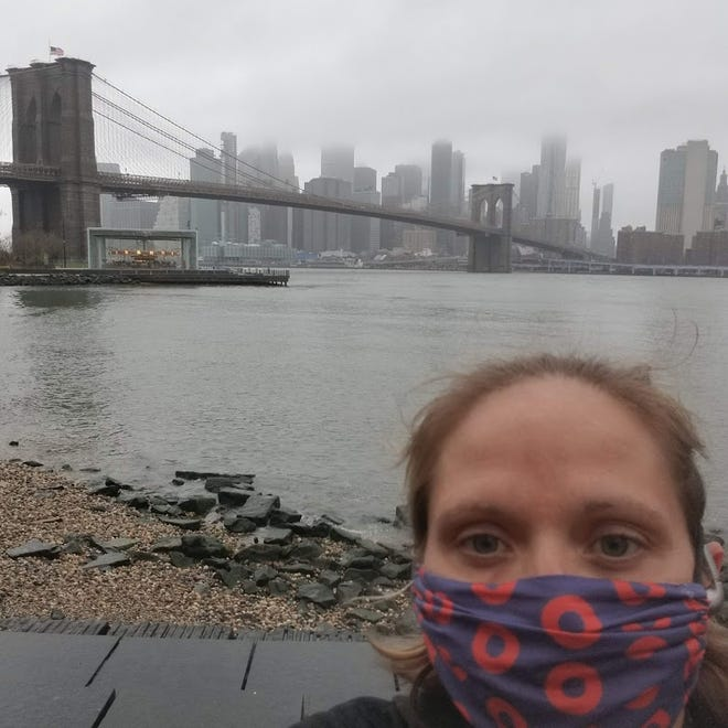 Asheville nurse Kristi Spry is working an eight-week contract in New York City.
